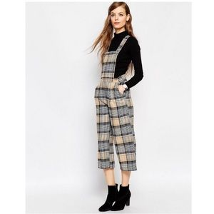 ✨ASOS✨Tailored Plaid Check Overalls